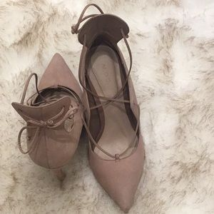 ALDO nude lace up stilettos